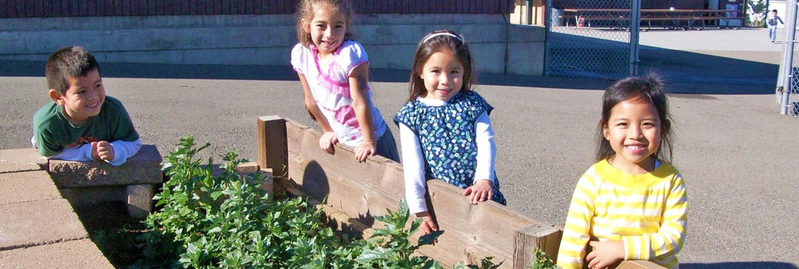 4RS Grants Program students with garden box