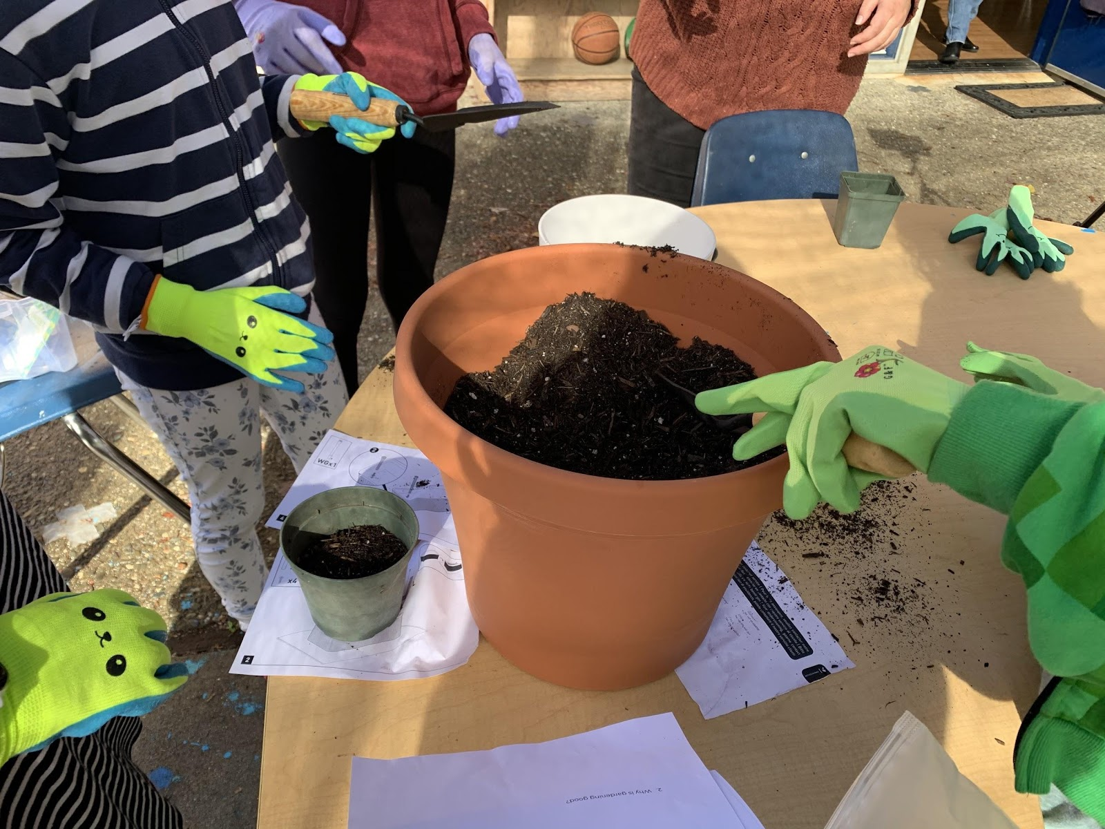 Planting Seeds During A Workshop
