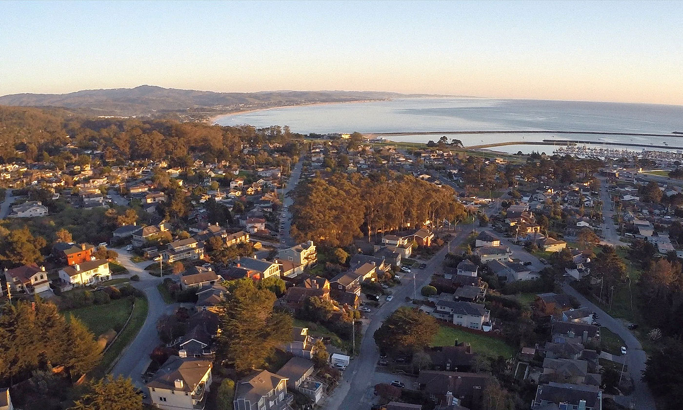 Aerial view of San Mateo County