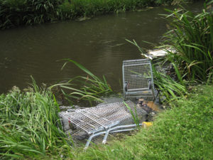 photo of Illegal dumping in canal