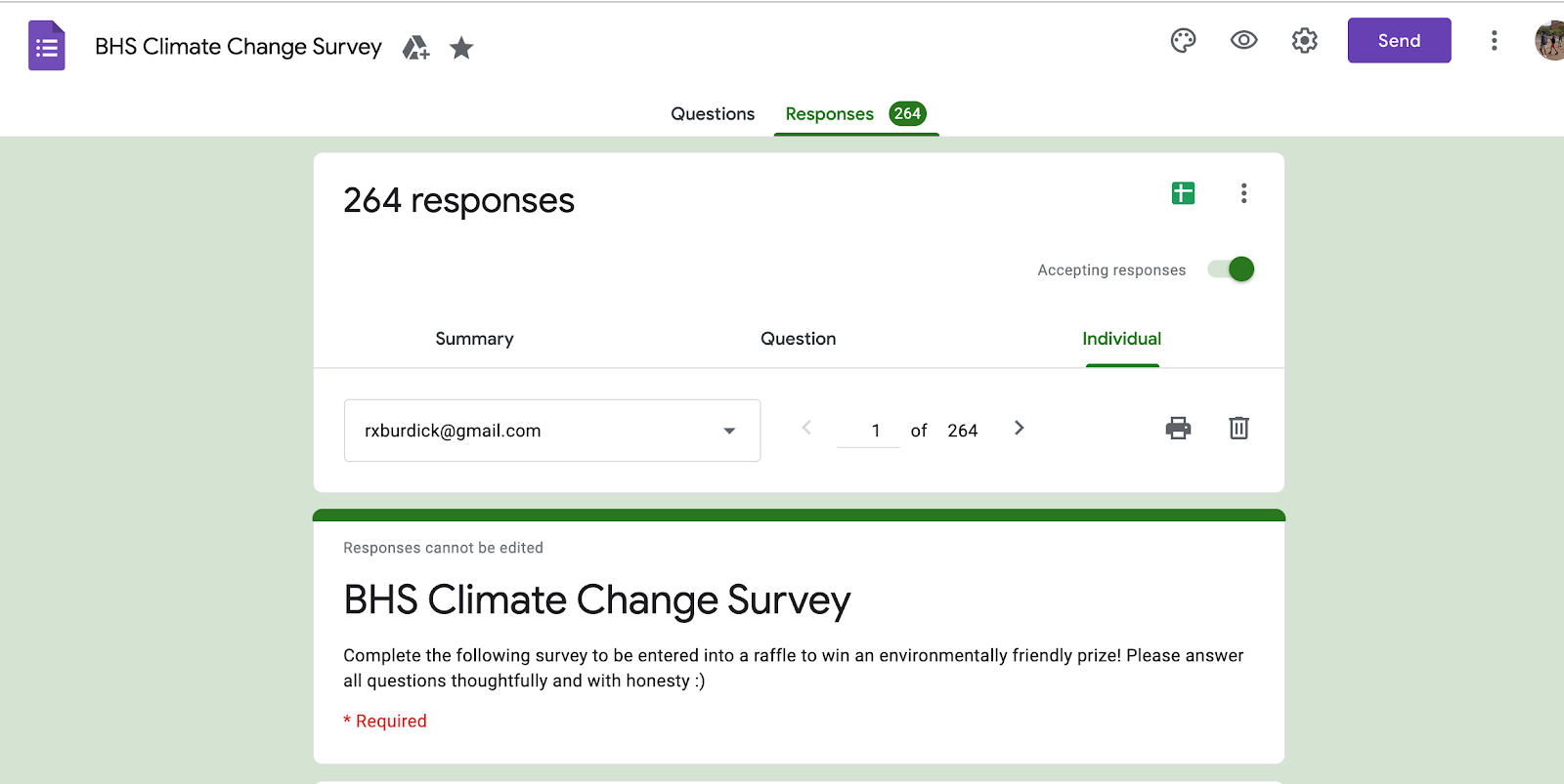 Student Climate Change Survey